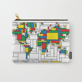 World Map - Modern Carry-All Pouch