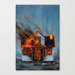 House on Fire Canvas Print