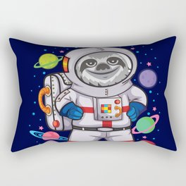 Space Sloth Rectangular Pillow