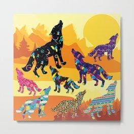 80s Funky Wolf (Daylight) Metal Print
