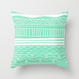 Carnival Glass Stripes Throw Pillow