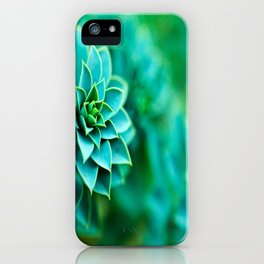 Green Succulent Mandala iPhone Case