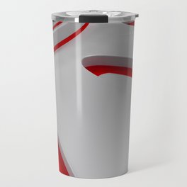Bright futuristic technological shape with glowing lines Travel Mug