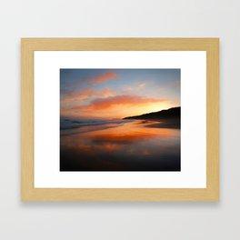 Sunrise Reflection Framed Art Print