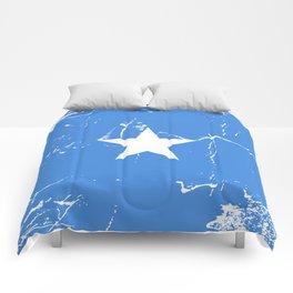 Somalia flag with grunge effect Comforters