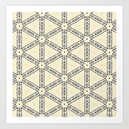 Words and Patterns Art Print
