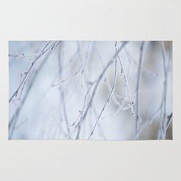 Frozen Twigs in Beautiful Winter Day Rug