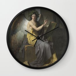 Clio, Muse of History by Charles Meynier Wall Clock