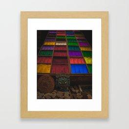 The Colors of Kathmandu City 02 Framed Art Print