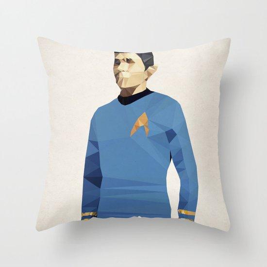 Polygon Heroes - Spock Throw Pillow