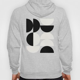 Abstraction_NEW_SHAPE_BLACK_WHITE_POP_ART_0905A Hoody