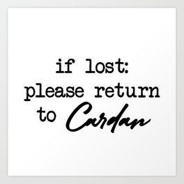 If Lost Cardan Art Print