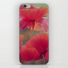 Poppies(vintage)2. iPhone & iPod Skin