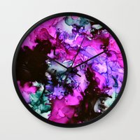 siren Wall Clocks featuring Siren by Claire Day