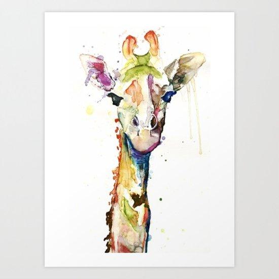 Giraffe Dreams Art Print