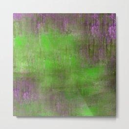 Green Color Fog Metal Print