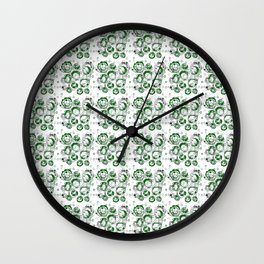 Green Bubbles Wall Clock