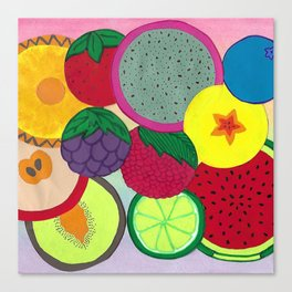 Fruity Circular Slices Canvas Print
