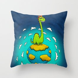 Dynoplanet Throw Pillow