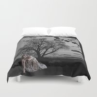 zombie Duvet Covers featuring zombie by Shea33
