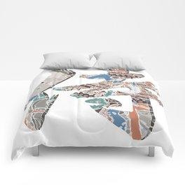 Samurai Kanji Comforters