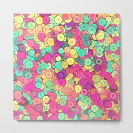 Colorful Buttons Metal Print