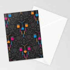 Mad Science Damask Stationery Cards