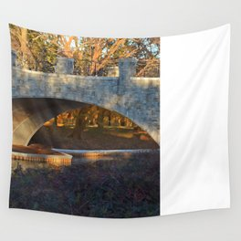 Painted Bridge At Sunset Wall Tapestry
