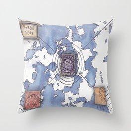 """multiverse map 4 """"alien"""" Throw Pillow"""