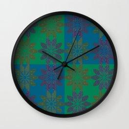 Flower Pattern3 Wall Clock