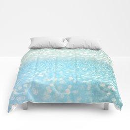 Mermaid Sea Foam Ocean Ombre Glitter Comforters