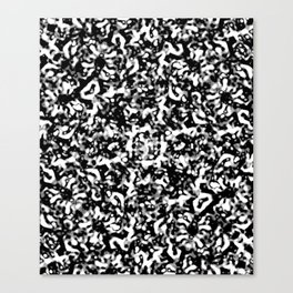 Black and White Abstract Texture Design Canvas Print