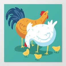 Chicken Family Canvas Print