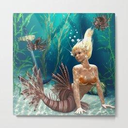 cute mermaid Metal Print