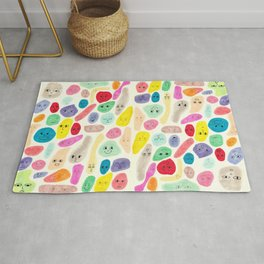 Colored Faces Rug