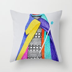 African style Throw Pillow