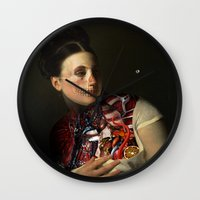 gravity Wall Clocks featuring Gravity by DIVIDUS