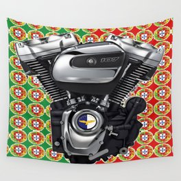 Portugal Biker Collage flag Wall Tapestry