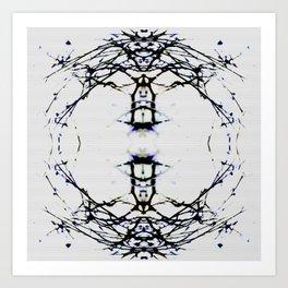 WHiteout Braches Art Print