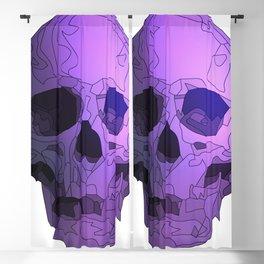 Skull - Violet Blackout Curtain