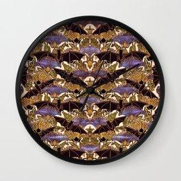 Art Nouveau Bats Medium Size Pattern Wall Clock