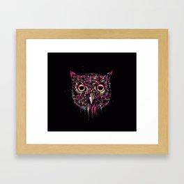 Colored Owl Framed Art Print