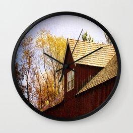 Vintage Red Barn Wall Clock