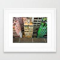 hong kong Framed Art Prints featuring Hong Kong by Gal Raz