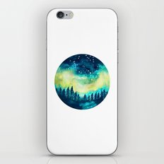 Aurora Borealis Circle iPhone & iPod Skin