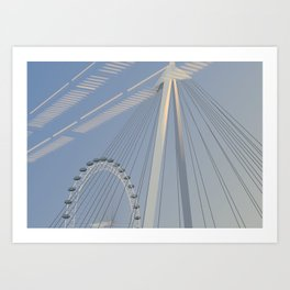 London Eye from Charing Cross Art Print
