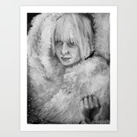 sia Art Prints featuring Sia by JenHoney