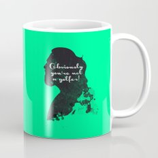 Not a golfer! – The Big Lebowski Silhouette Quote Mug