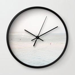 At the Seaside (three) Wall Clock