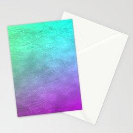Aqua Sunset Stationery Cards